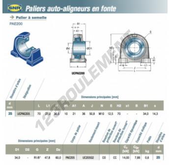 UCPAE205-SNR