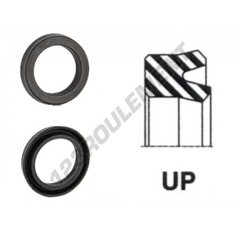 UP-145X160X14-NBR90 - 145x160x14 mm