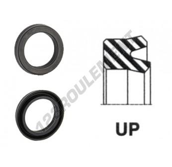 UP-148X160X15.50-NBR90 - 148x160x15.5 mm