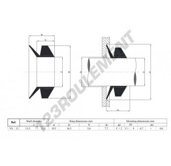 VS12-NBR - 12x7.7 mm