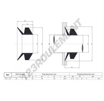 VS25-NBR - 25x10.5 mm