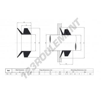 VS35-NBR - 35x10.5 mm