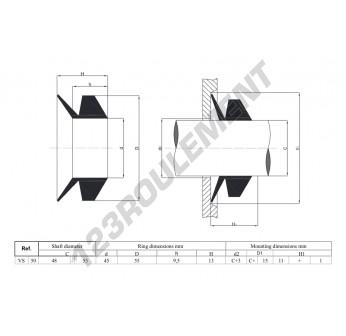 VS50-NBR - 50x13 mm