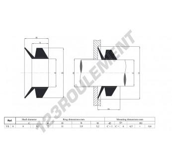 VS8-NBR - 8x5.2 mm