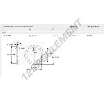 W05-SKF - 25.12x43.66x1.01 mm