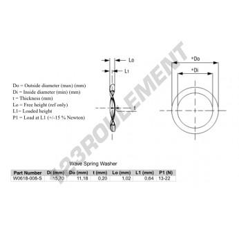 W0618-008-S - 11.18x15.7x0.2 mm