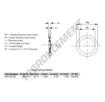 W2132-023 - 42.11x54.15x0.58 mm