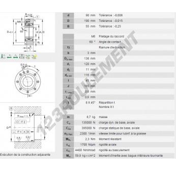 ZKLF90190-ZZ-INA - 90x190x55 mm