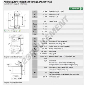 ZKLN0619-2Z-INA - 6x19x12 mm