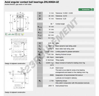ZKLN0624-2Z-INA - 6x24x15 mm