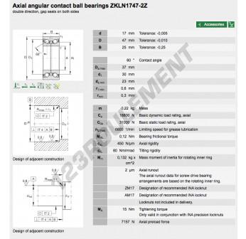 ZKLN1747-2Z-INA - 17x47x25 mm