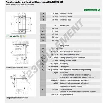 ZKLN3072-2Z-INA - 30x72x38 mm