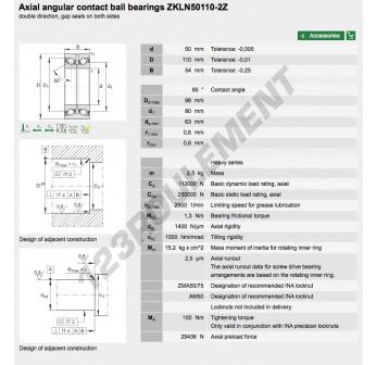 ZKLN50110-2Z-INA - 50x110x54 mm